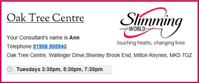 Slimming World Shenley Christian Fellowship