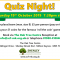 Quiz Night!  Saturday 19th October 2019